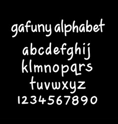 Gafuny alphabet typography vector