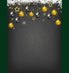 Golden decoration ornament with christmas ball vector