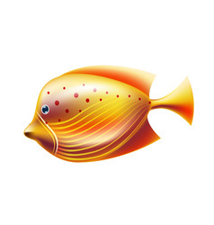 golden tropical fish coral reef fish vector image