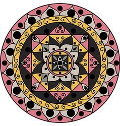 Gray-pink mandala vector image