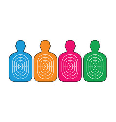 group of men paper targets vector image