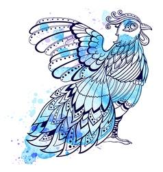 Hand drawn decorative bird vector image