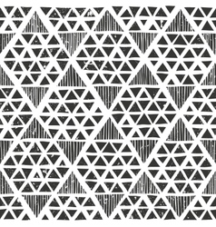 Hand drawn monochrome pattern Primitive geometric vector image