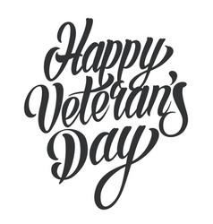 Happy veterans day lettering vector