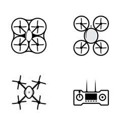icons for quadrocopter vector image