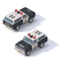 isometric police SUV vector image