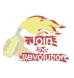 Join the revolution logo vector image