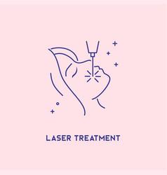 laser treatment icon cosmetology concept facial vector image