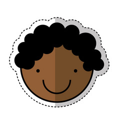little boy drawing isolated icon vector image