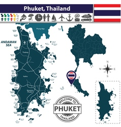 Map of Phuket vector image