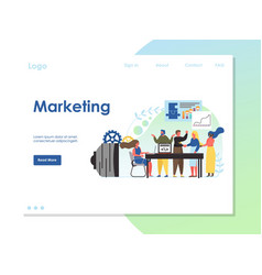 marketing website landing page design vector image