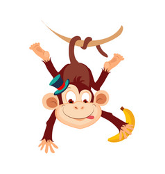 monkey funny alphabet animal vector image