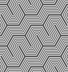 Monochrome diagonal hexagonal fence vector image