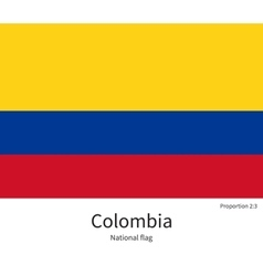 National flag of Colombia with correct proportions vector image
