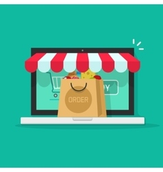 Online order from ecommerce store on-line vector image
