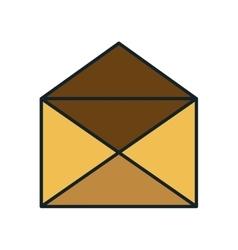 Open envelope mail vector