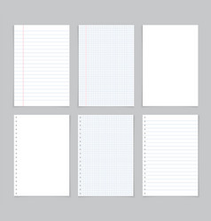 Paper sheet from notebook white page from notepad vector