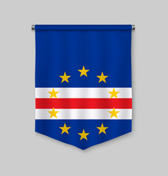 Pennant with flag vector