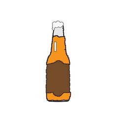 pixelated beer bottle vector image