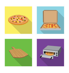 pizza and food logo set of vector image