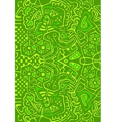 Psychedelic mosaic pattern Abstract design vector