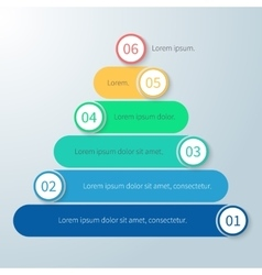 Pyramid for infographics with numbers vector image