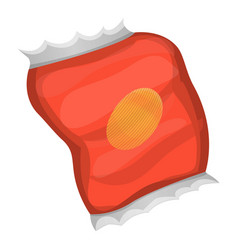 red chips pack icon cartoon style vector image