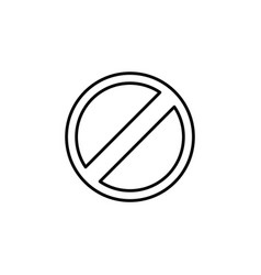 restricted line icon design black on white vector image