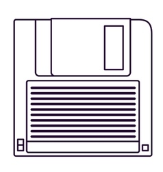 Retro diskette technology design vector
