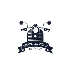 retro motorcycle logo template motorcycle logo vector image