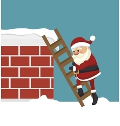 Santa claus in chimney isolated icon design vector
