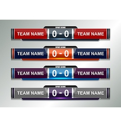 Scoreboard football design elements vector