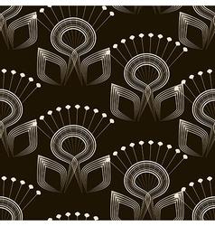 Seamless pattern monochrome art deco ornament vector