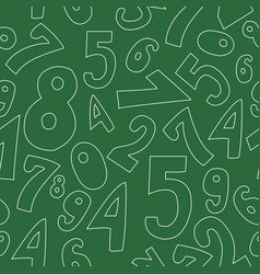 Seamless pattern with numbers vector