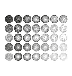 Set of 35 round stipple pattern for design Tile vector