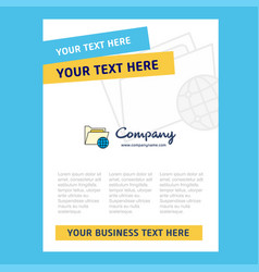 Shared folder title page design for company vector