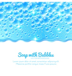 Shining Water Background with Bubbles vector image