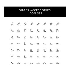 shoes icon set with outline design vector image