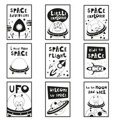 space posters set vector image