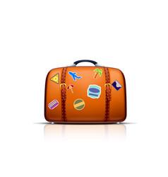 Suitcase island travel vector