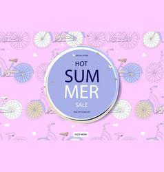 Super summer bike sale concept vector
