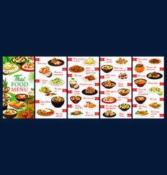 thai restaurant meals menu design template vector image
