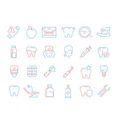 Tooth icon dental teeth stomatology health care vector