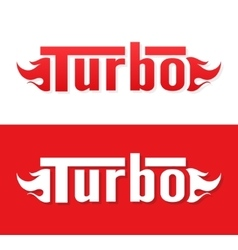 Turbo logo design vector