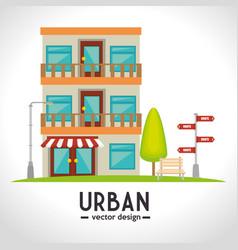 urban and cityscape design vector image
