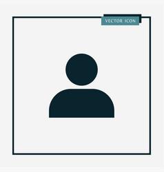 user icon simple vector image