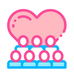 volunteers support love thin line icon vector image
