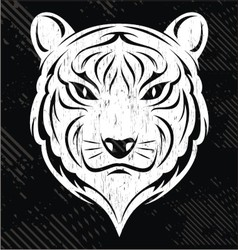 White Tiger Head vector image