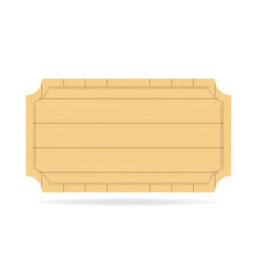Wooden empty signboard badge wood texture vector