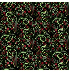 Abstract seamless floral curl pattern vector